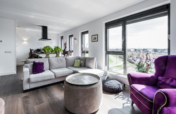 Luxury apartment; Beach and Amsterdam nearby - Heemskerk - Leilighet