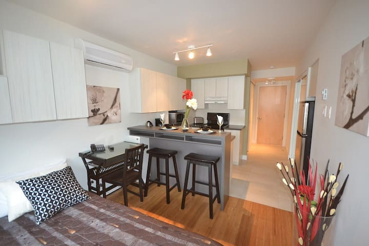 Amazing location! Studio close to metro Mont-Royal