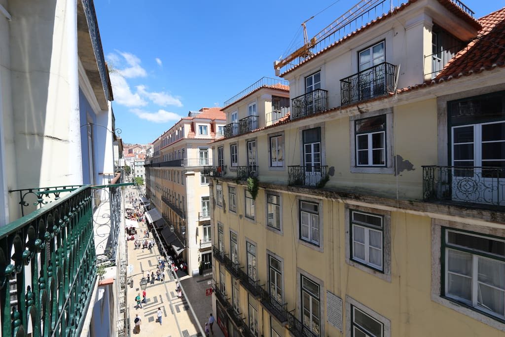 View from the balconies: historic center