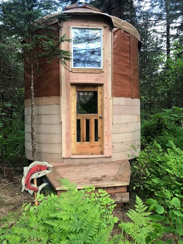Alaskan Bunk Yurt nestled in a Fairy Tale Forest-Starfish Studio