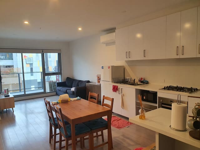 Kitchen and living area. You can use all we have here