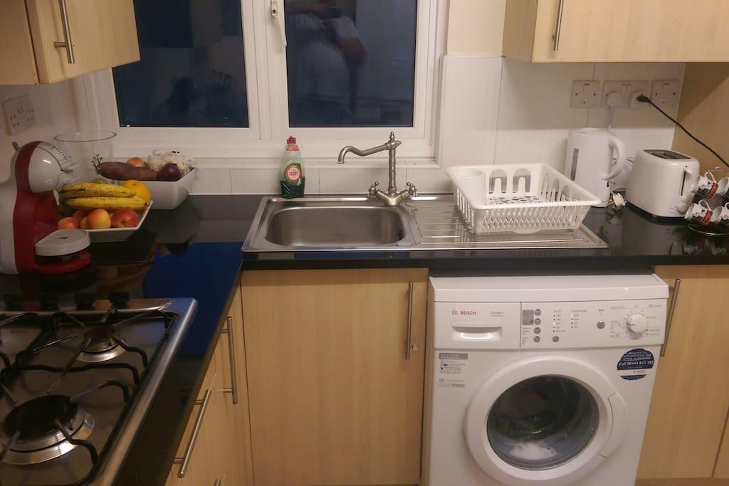 Whashing Machine and Kitchen