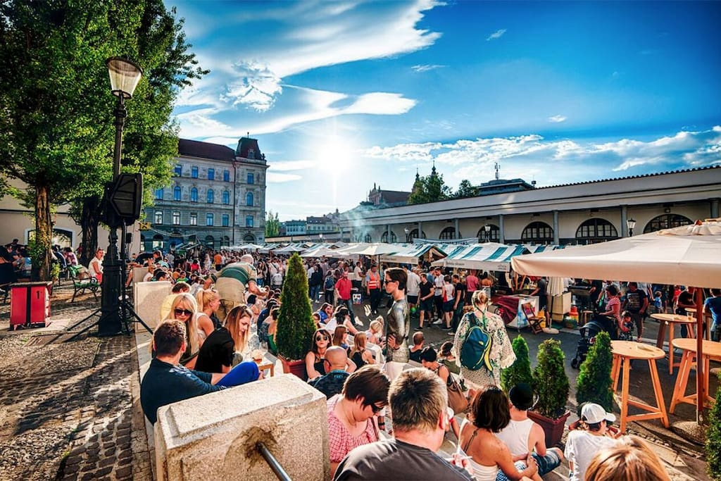 Odprta kuhna or Open kitchen food market opened every Friday! Try some Slovenian cuisine at afordable prices!