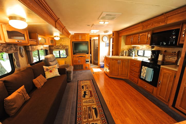 Spacious Camper with private yard - Bridgeport - Husbil/husvagn