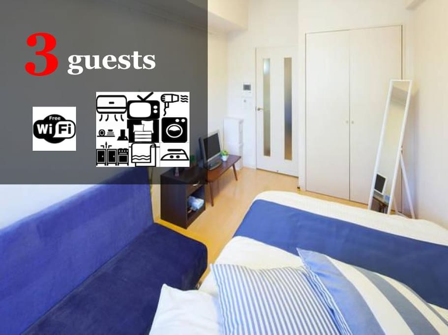 Up to 3 guests available