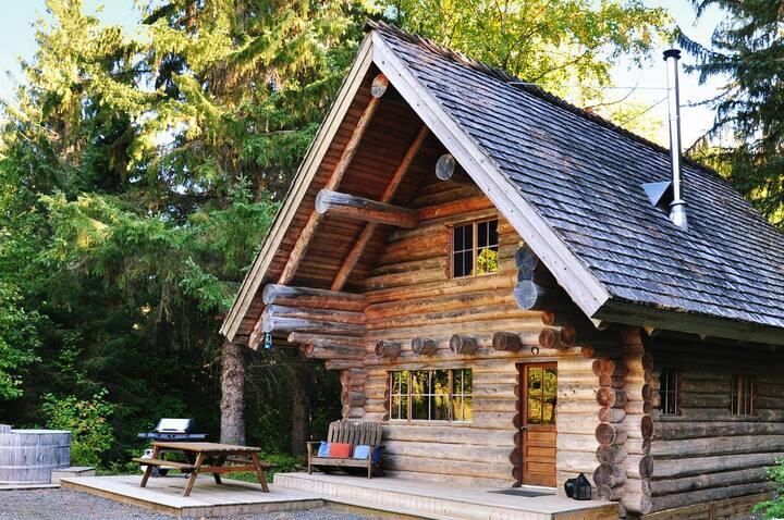 Secluded Log Cabin near Stewart-Cassiar Highway