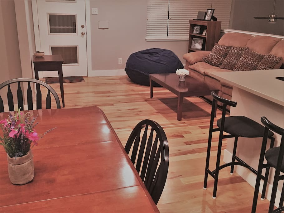 Dining & Living Rooms (main level): clean, bright, comfy & modern
