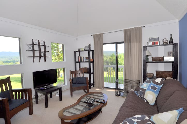 Enjoy the beautiful views from the living area.