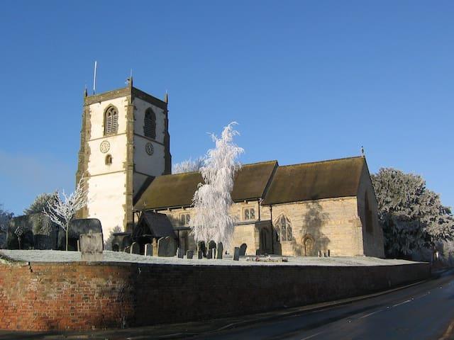 Upton Snodsbury church dating from 13th Century