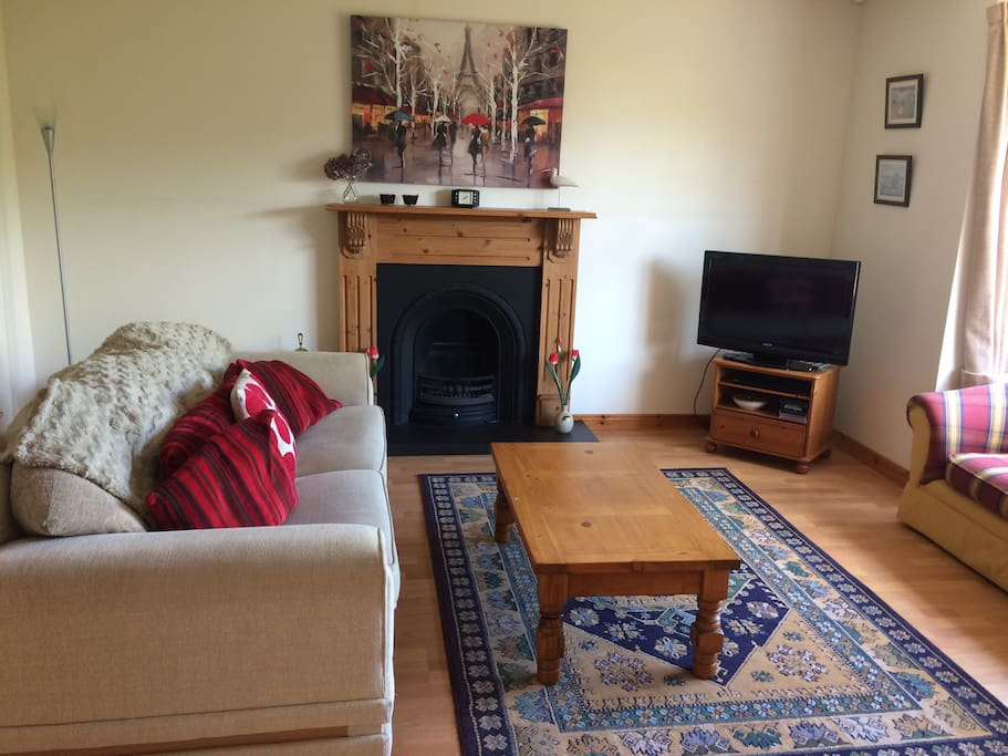 Living area with TV & DVD player