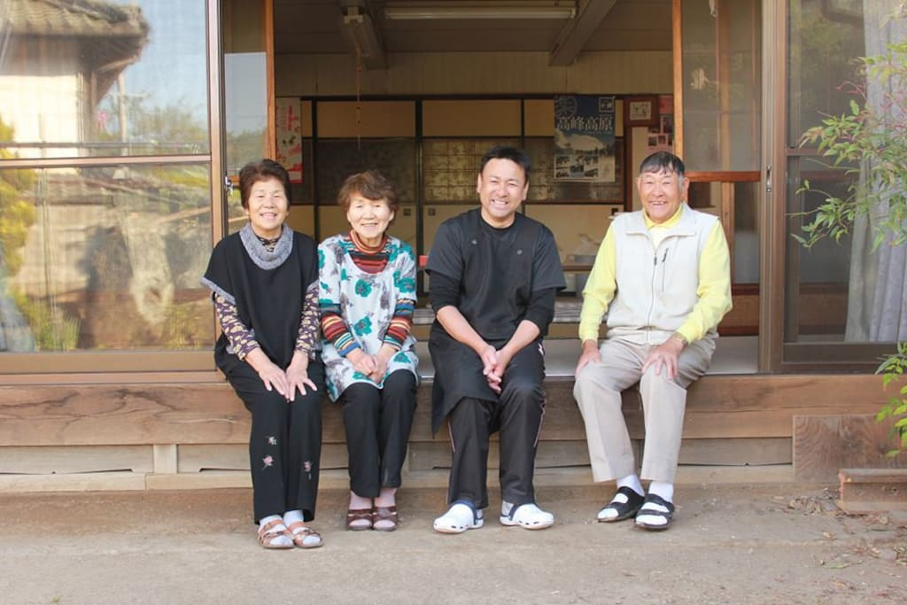 <Host Family> : Owner Chef, Kazunobu MIYASAKA, 2nd from Right