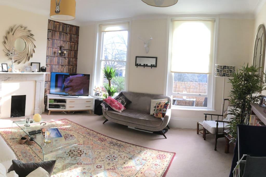 Huge sunny living room