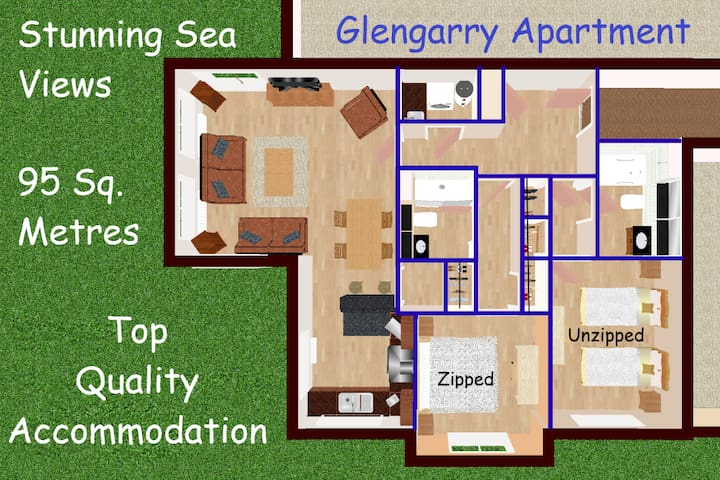 Glengarry:  Luxury living & stunning coastal views