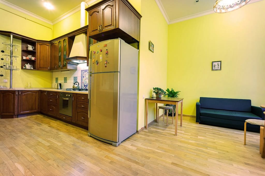 Spacious kitchen available to use at any time during your stay