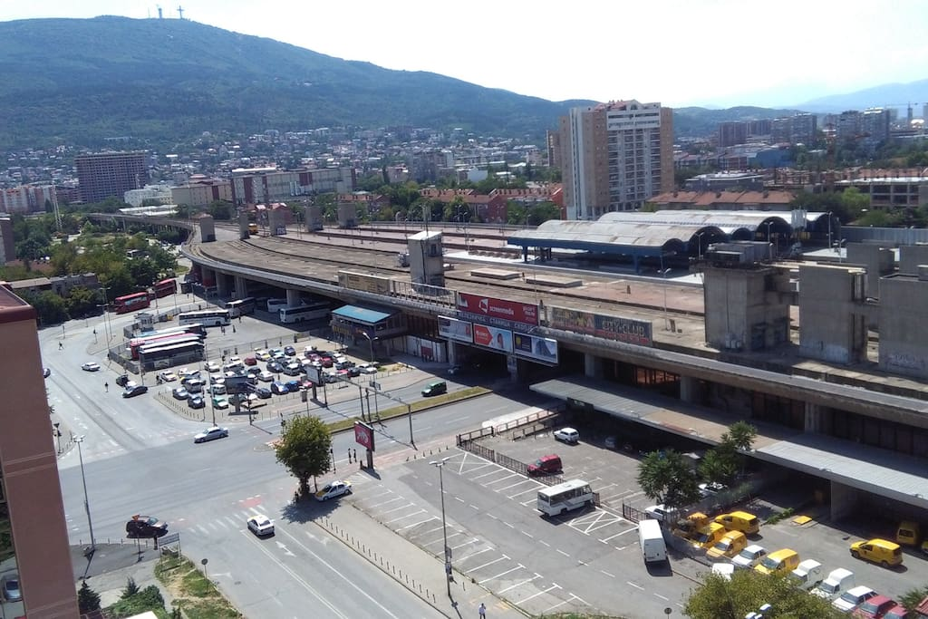 View to Central railway and bus station