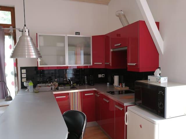 Studio meublé 50m2 RDC + terrasse