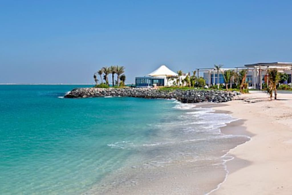 corniche beach on walking distance