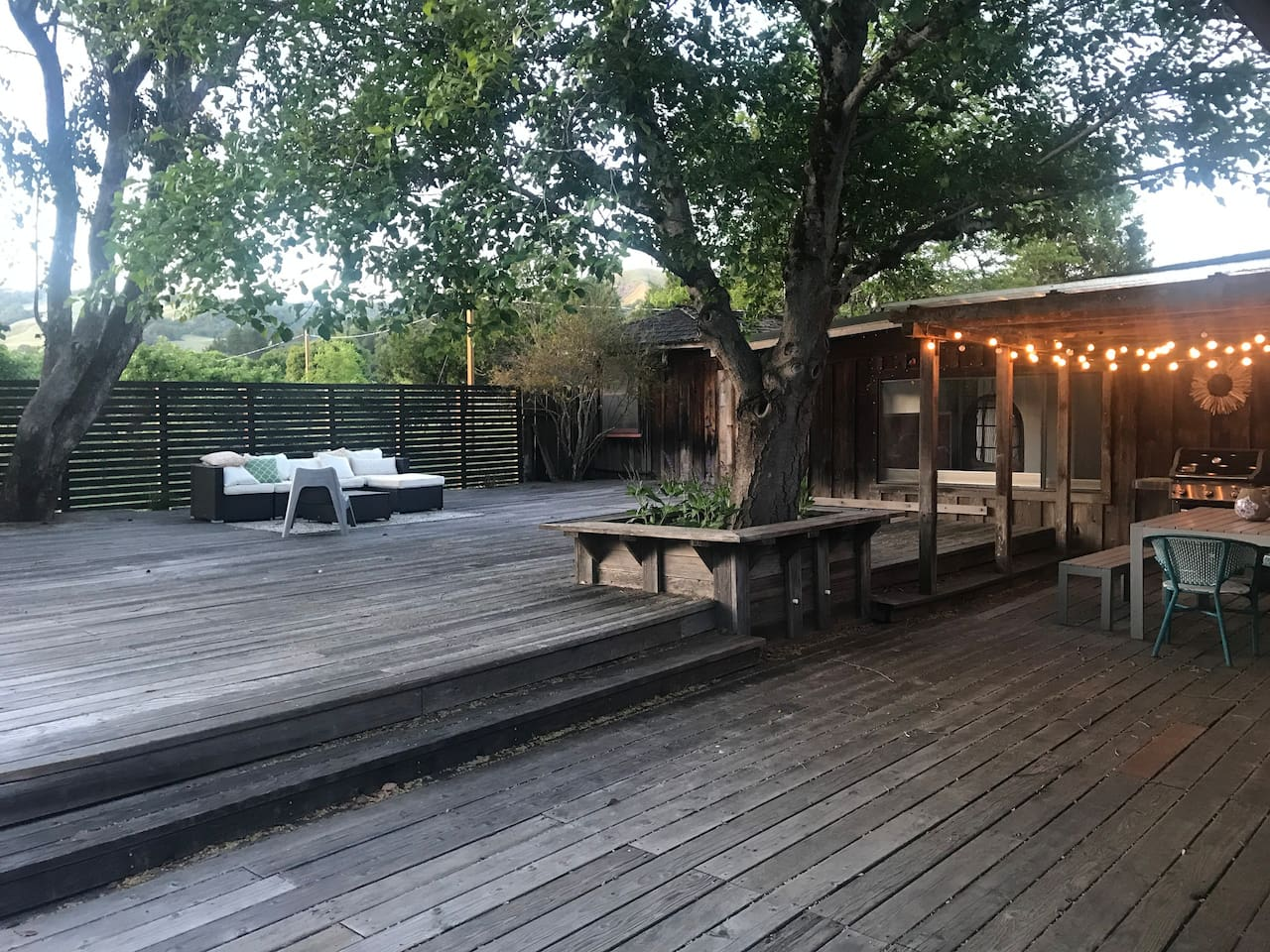 Expansive deck with plenty of seating