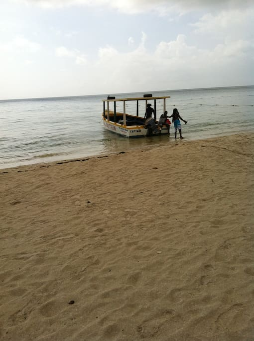 Boat in negril one of the things we offer