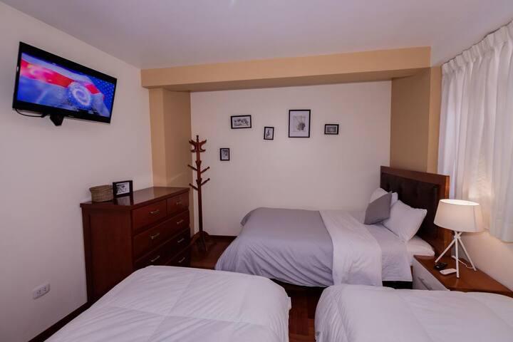 Habitación triple (3 camas de 1.5 plaza)
