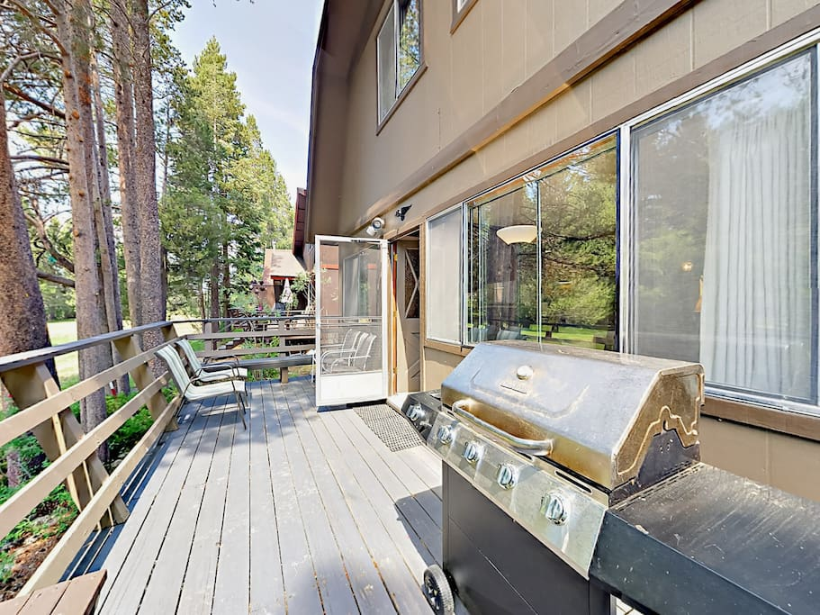 Grill your favorite meals on the deck.