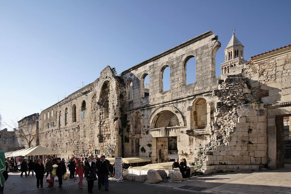 The whole center of Split is a part of UNESCO world heritage