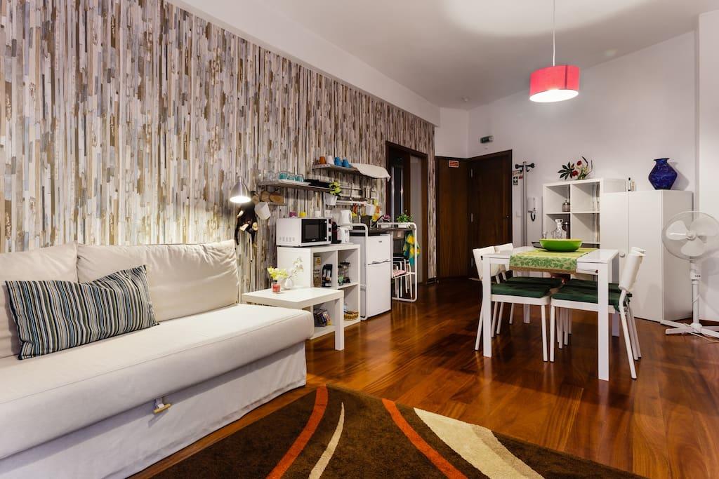 Sala de estar e de refeições