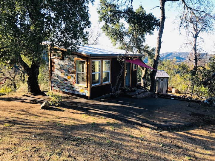 the buddha cabin.  totally off-grid and off-road!