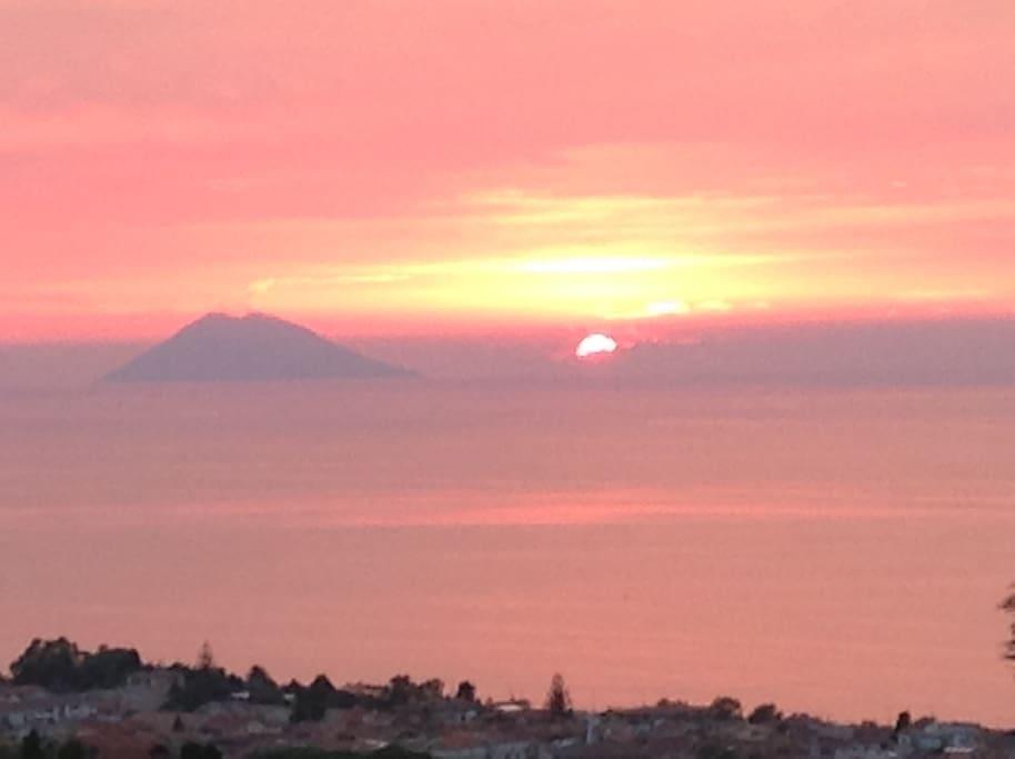 Splendido tramonto visibile dall'alloggio