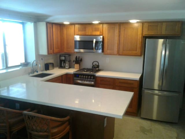 Upscale Kitchen for the Gourmet or not so gourmet guest.  It's all there!