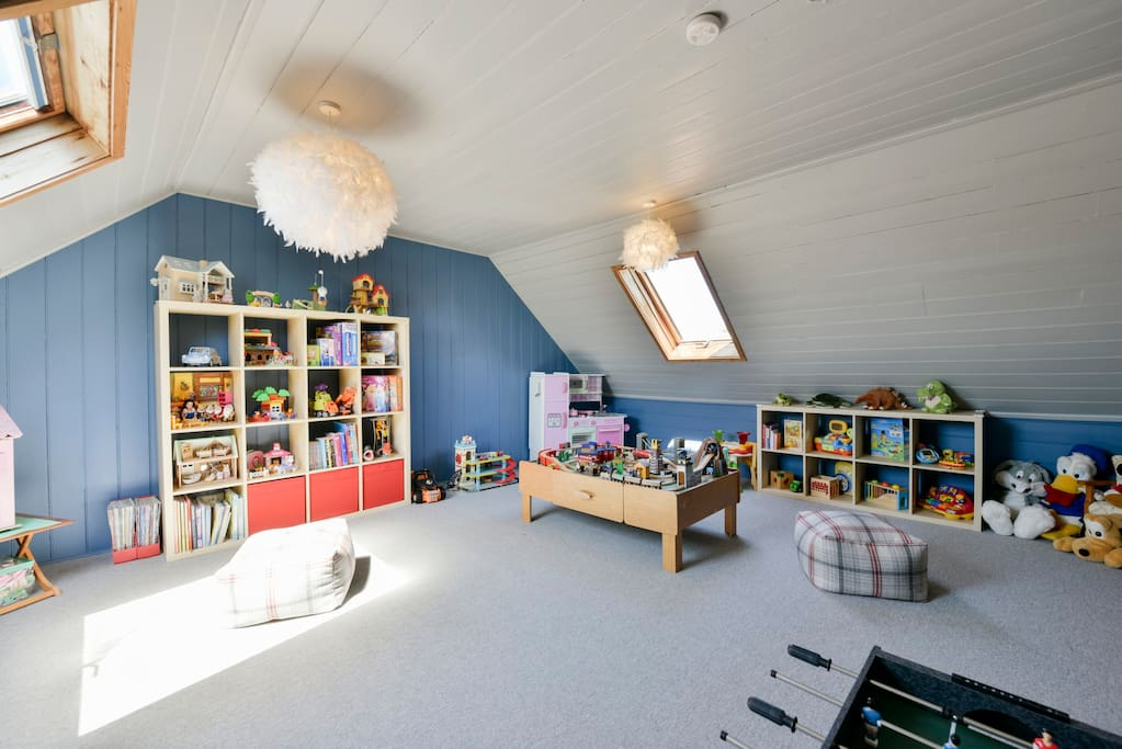 The entire 3rd floor is dedicated to a Playroom with a treasure trove of toys