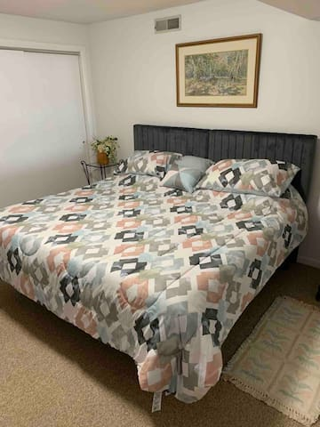 King size bed that can be converted into two twin beds upon request.