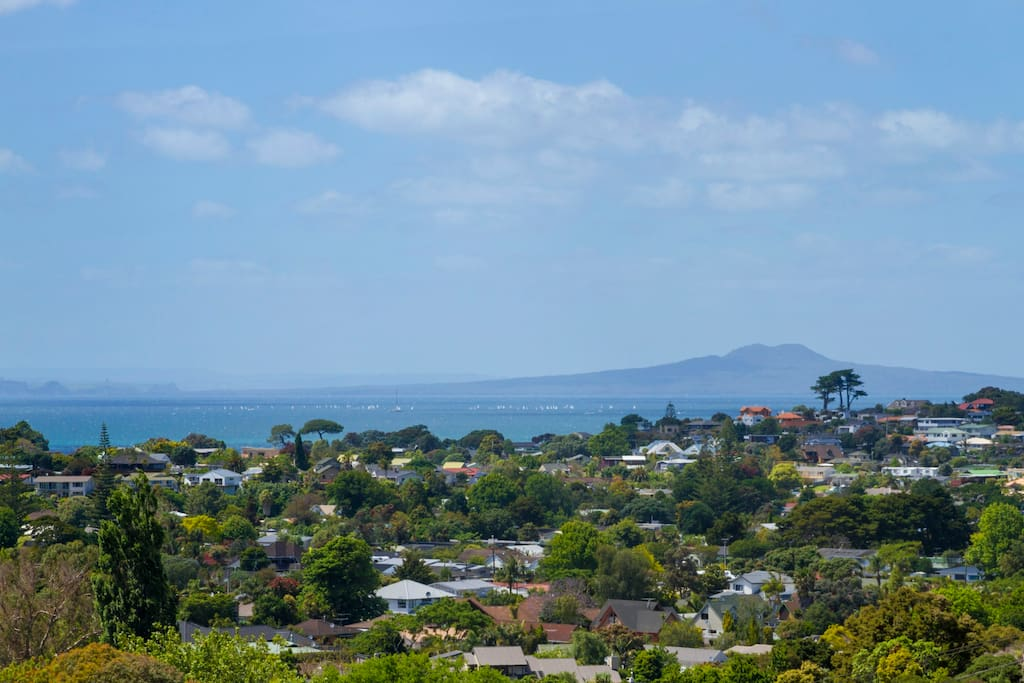 View to Rangitoto Island from front door