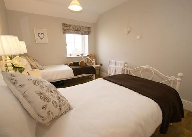 Full size twin beds
