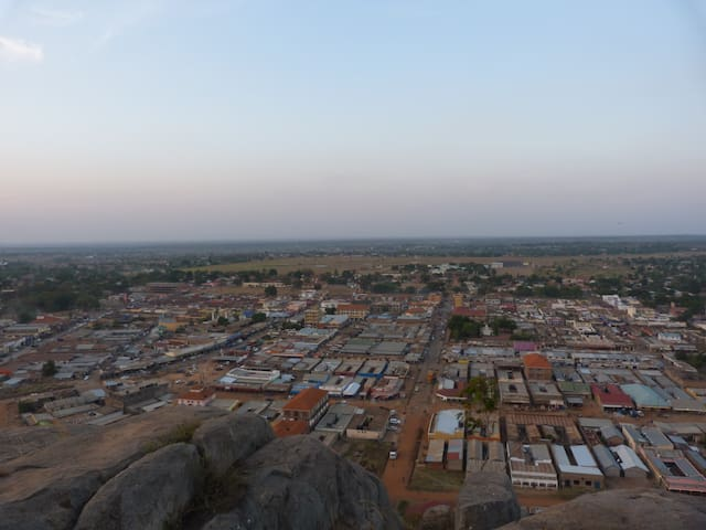 Soroti Town, as seen from the rock.