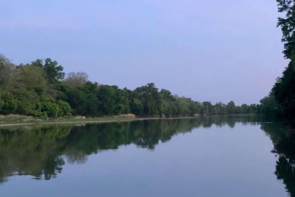 Standing on the private fishing dock, this is what you'll see - tranquility awaits!