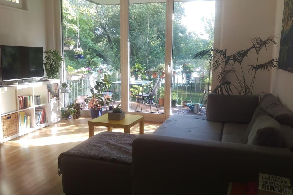 Studio - living room view
