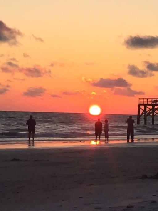Sunset right across the street on Redington  Beach