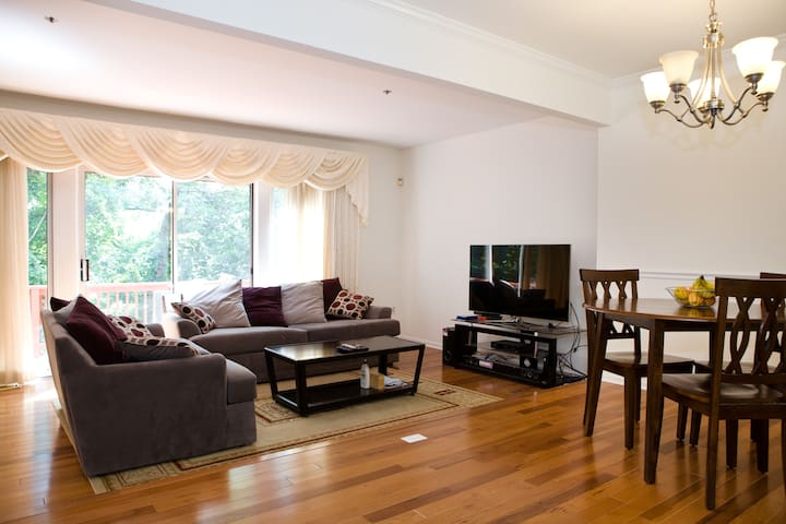Clean private basement,walk to Train/DC, Full bed - Silver Spring - Řadový dům