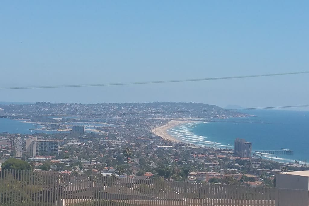 Looking south; left is the bay, right is the ocean