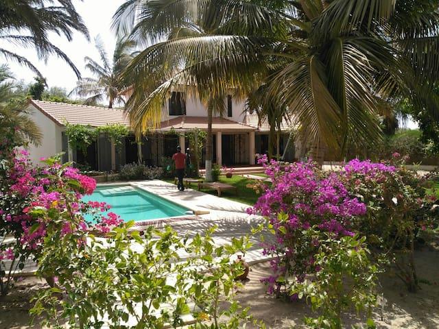Beautiful estate set in a tropical garden
