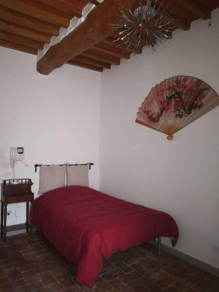 Camera singola spaziosa in stile rustico toscano