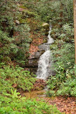 Take a 1/4 mile walk to a soothing waterfall