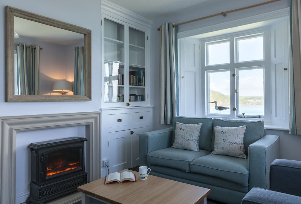 First floor: Sitting room with sea views