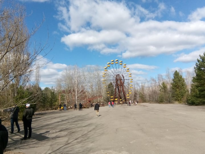 amusement park of Prypyat city