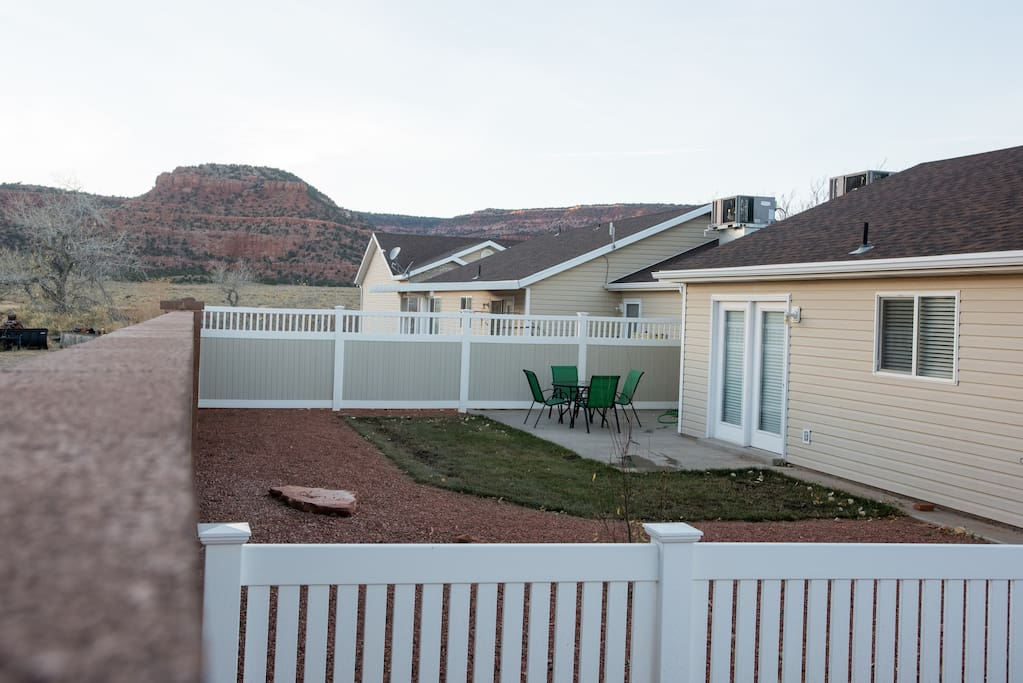 You will enjoy amazing dinners and sunsets on the large backyard patio