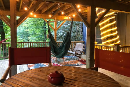 Happy Place Treehouse with Private Deck in Forest
