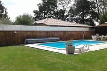 Profitez de la piscine et du jardin