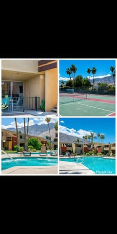 In the heart of Palm Springs, pool and hot tub