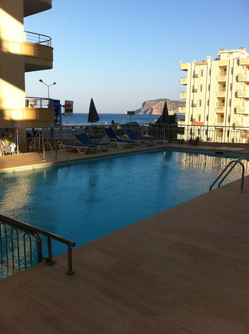 Swimming pool for adults and kids of the complex. Sun beds and umbrellas are incl.